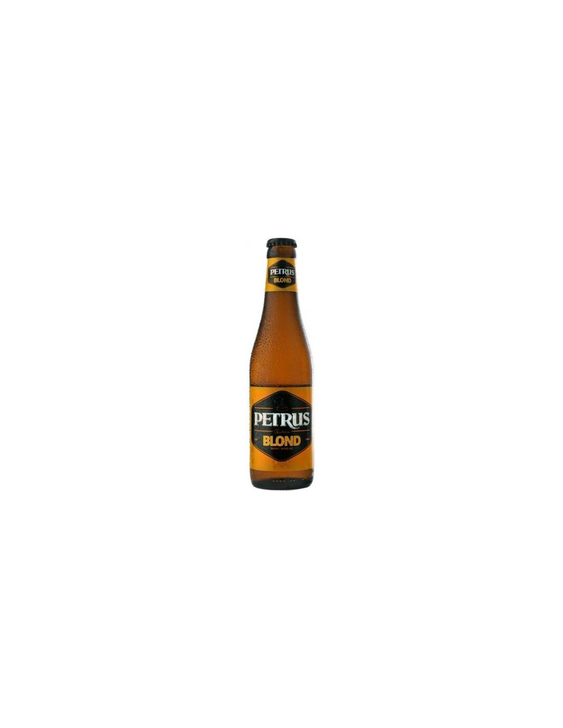 Bere blonda, filtrata Petrus, 6.6% alc., 0.33L, Belgia