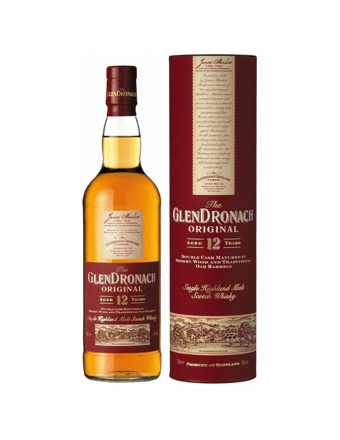 Whisky Single Malt Glendronach, 12 ani, 43% alc., 0.7L, Scotia