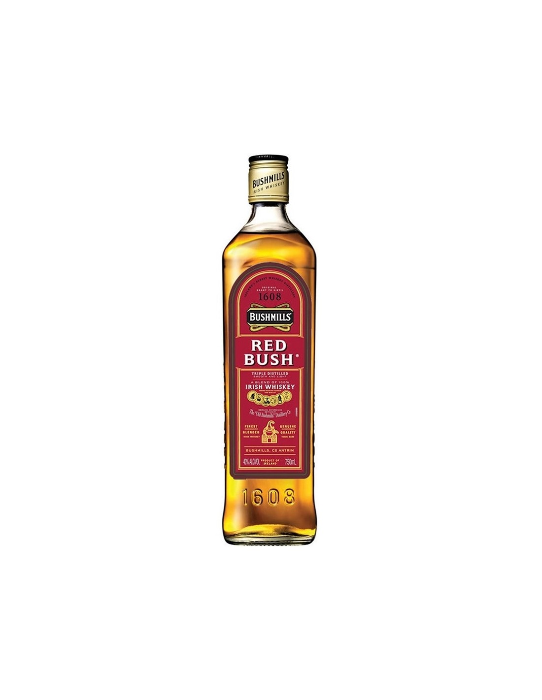 Whisky Bushmills Red Bush, 40% alc., 0.7L, Irlanda