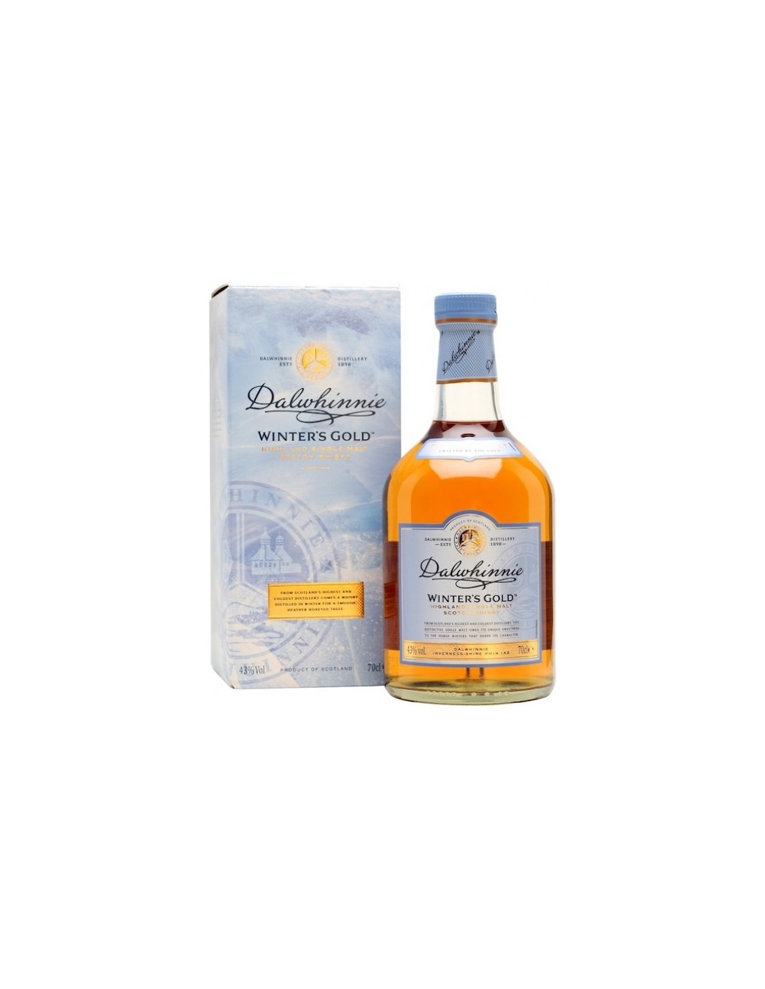 Whisky Dalwhinnie Whinter's Gold, 43% alc., 0.7L, Scotia