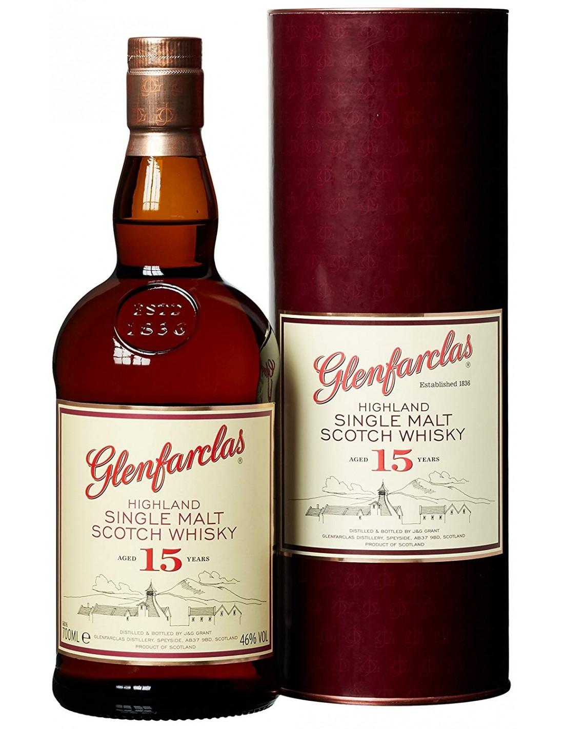 Whisky Glenfarclas, 15 ani, 46% alc., 0.7L, Scotia
