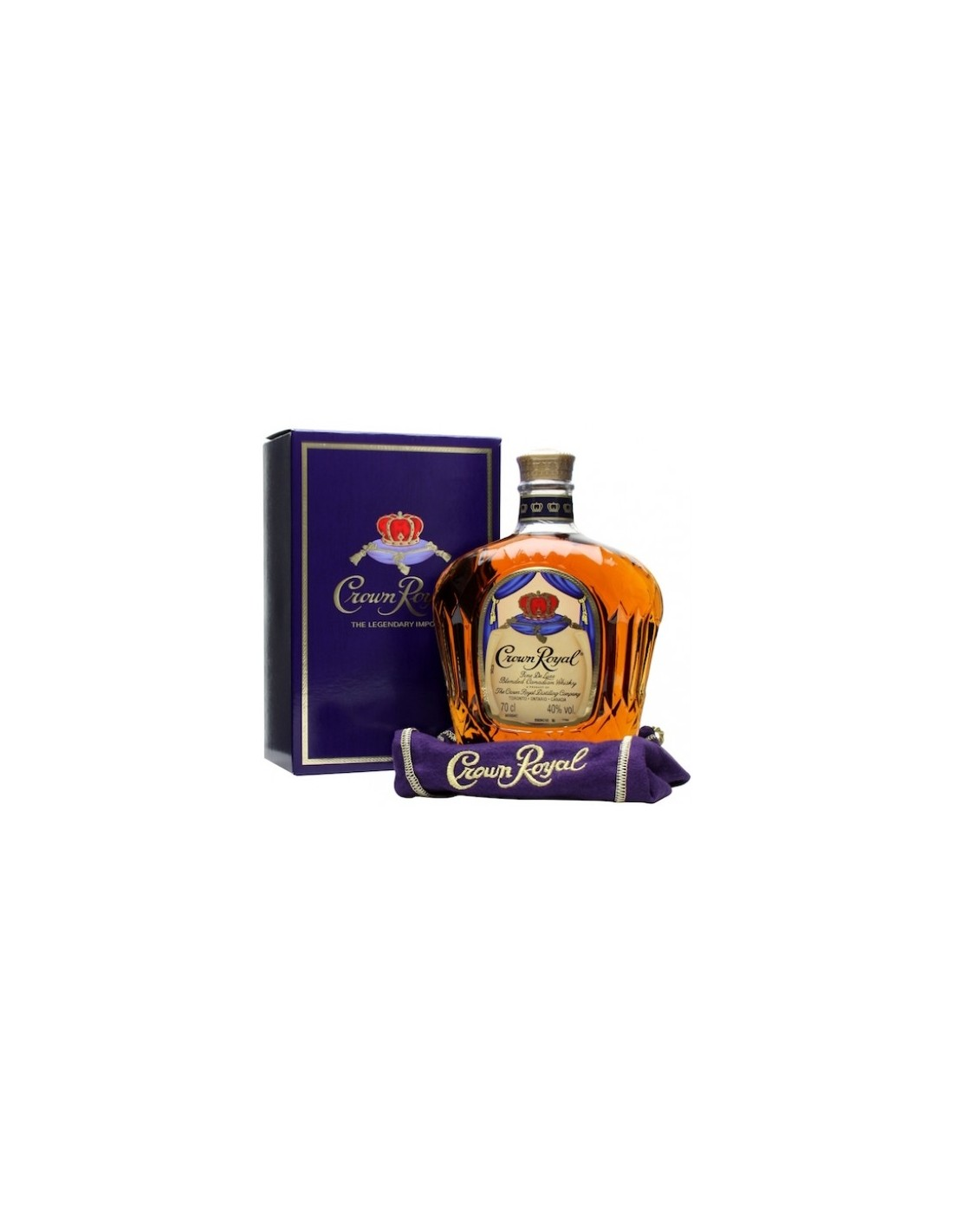 Whisky Crown Royal, 40% alc., 0.7L, Canada