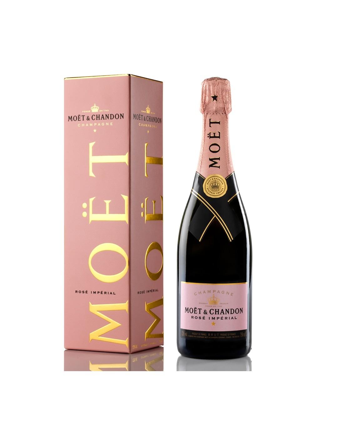 Sampanie roze, Moët & Chandon Rosé Imperial Champagne, 0.75L, 12% alc., Franta