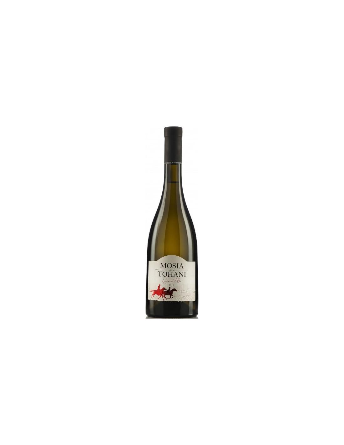 Vin alb sec, Feteasca Alba, Mosia 7 Coline Tohani, 0.75L, 13.5% alc., Romania