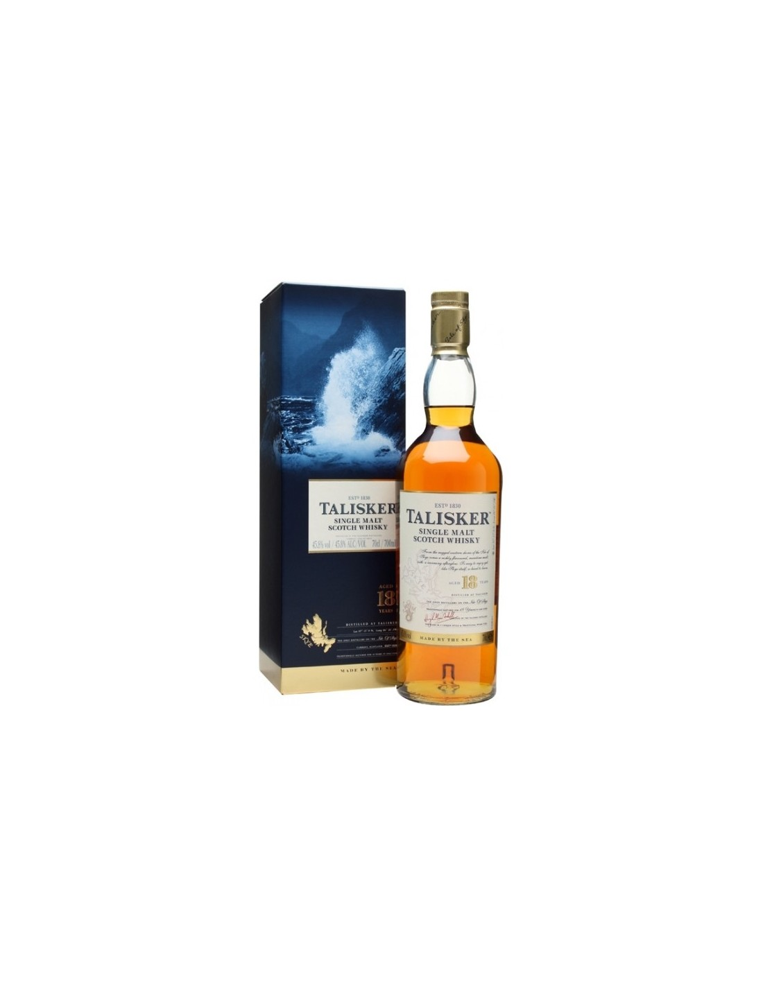 Whisky Single Malt Talisker, 18 ani, 45.8% alc., 0.7L, Scotia