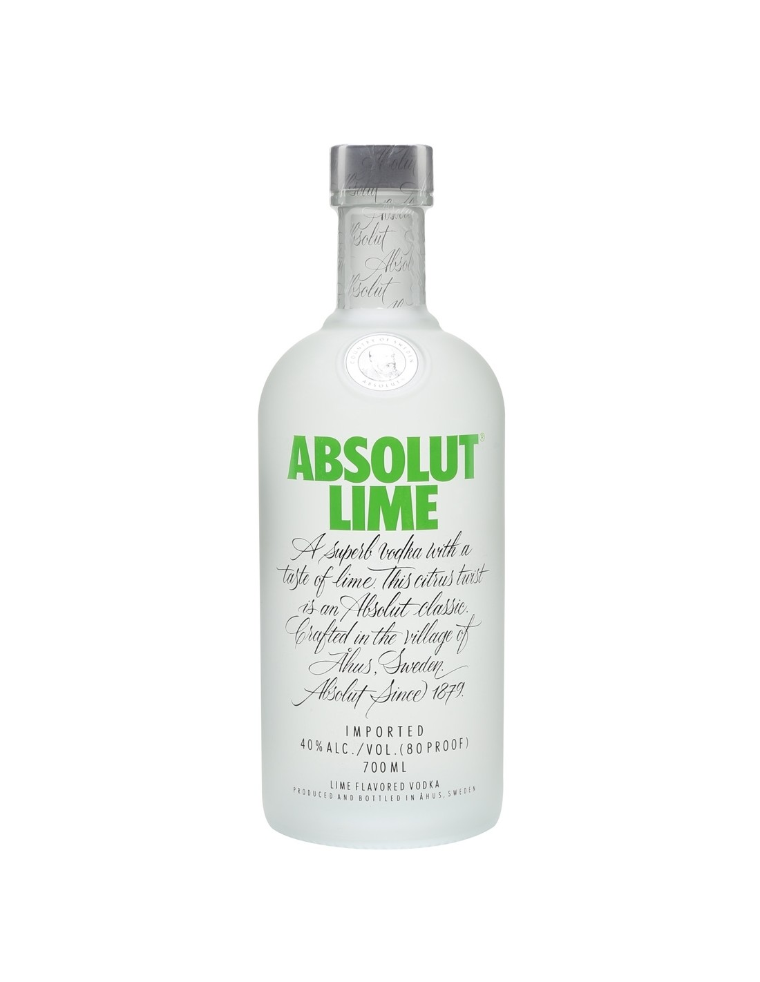 Vodca Absolut Lime 0.7L, 40% alc., Suedia