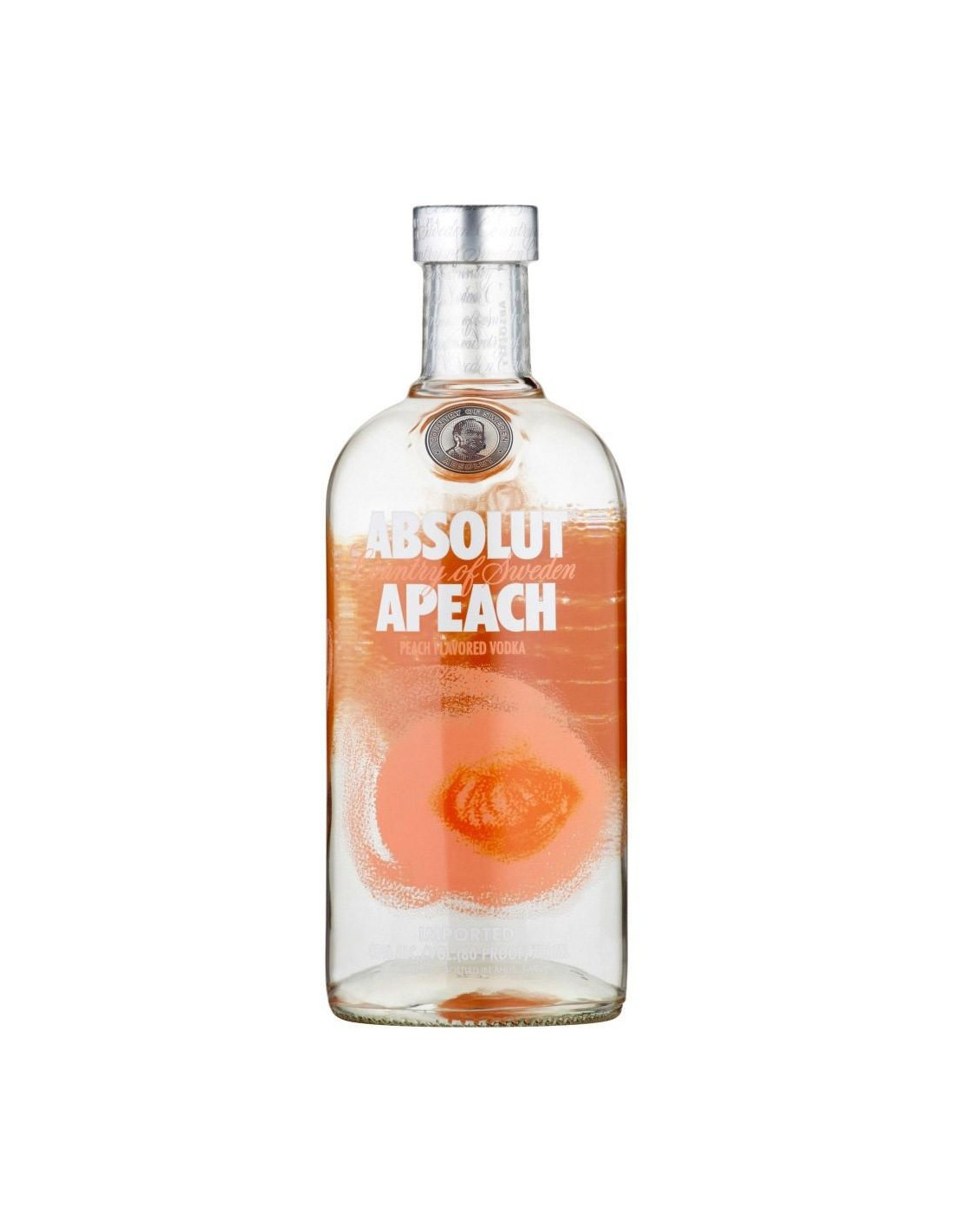 Vodca Absolut Peach 40% alc., 0.7L, Suedia