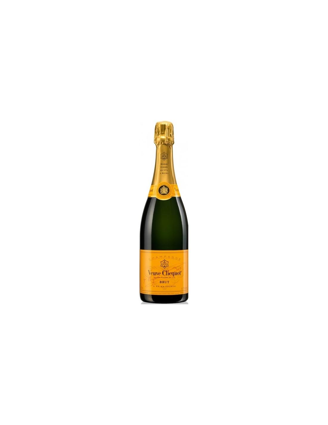 Sampanie, Veuve Clicquot Champagne, 0.75L, 12% alc., Franta
