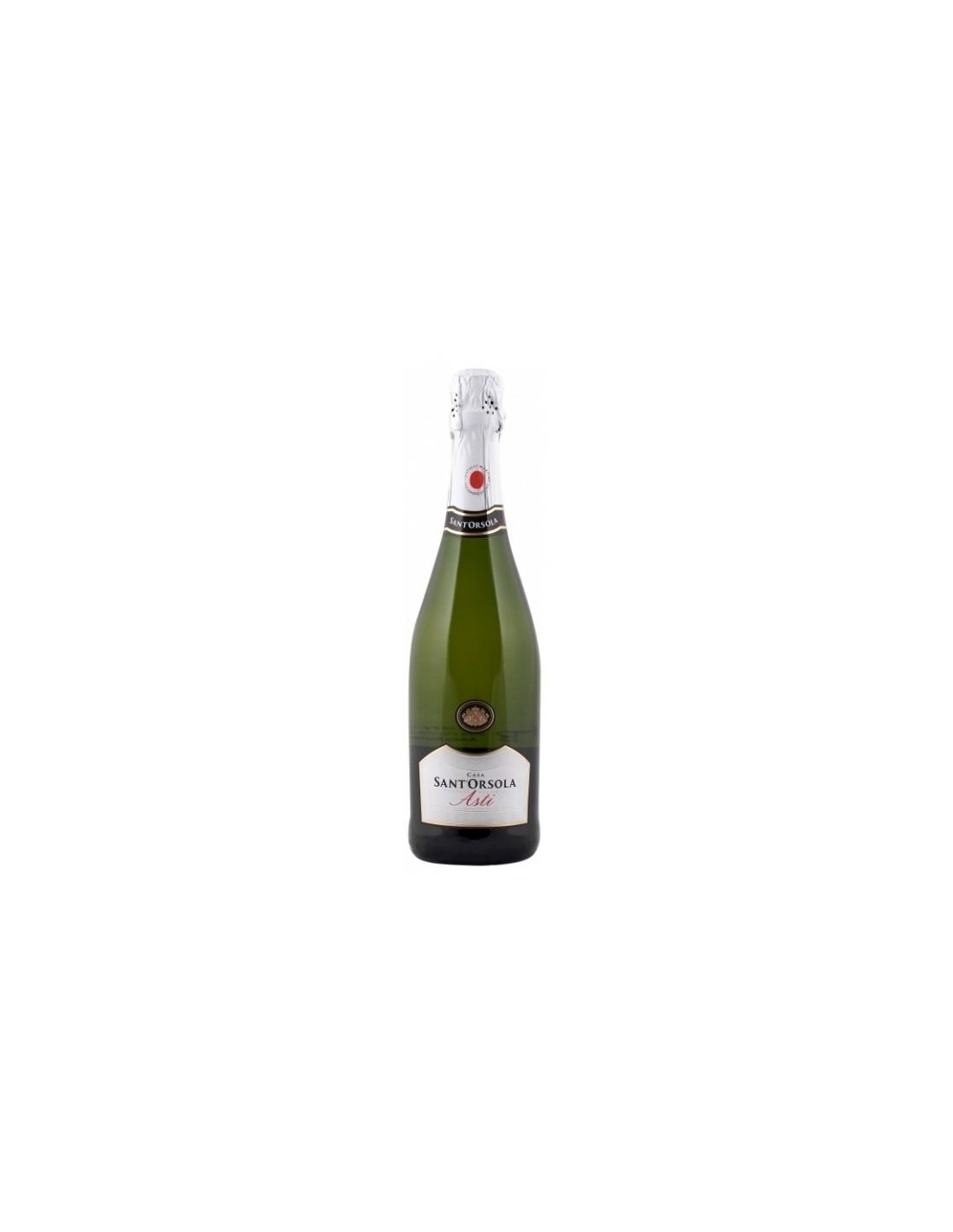 Vin spumant alb, Casa Sant'Orsola Asti, 0.75L, 10% alc., Italia
