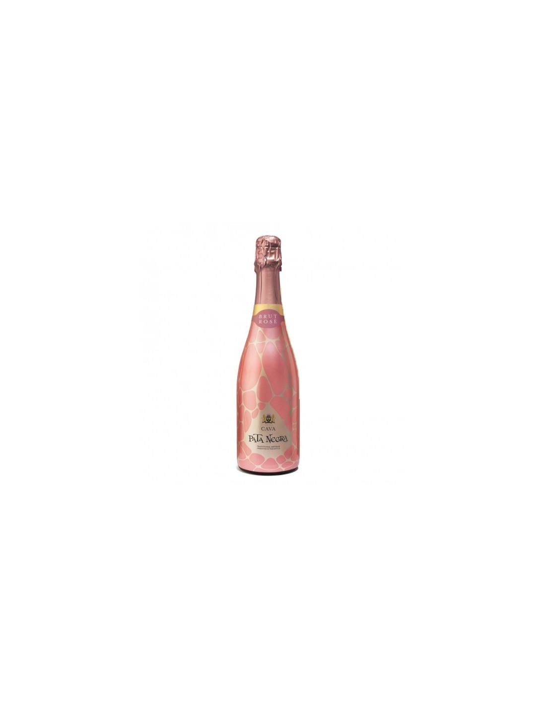 Vin spumant roze Pinot Noir, Pata Negra Cava, 0.75L, 11.50% alc., Spania