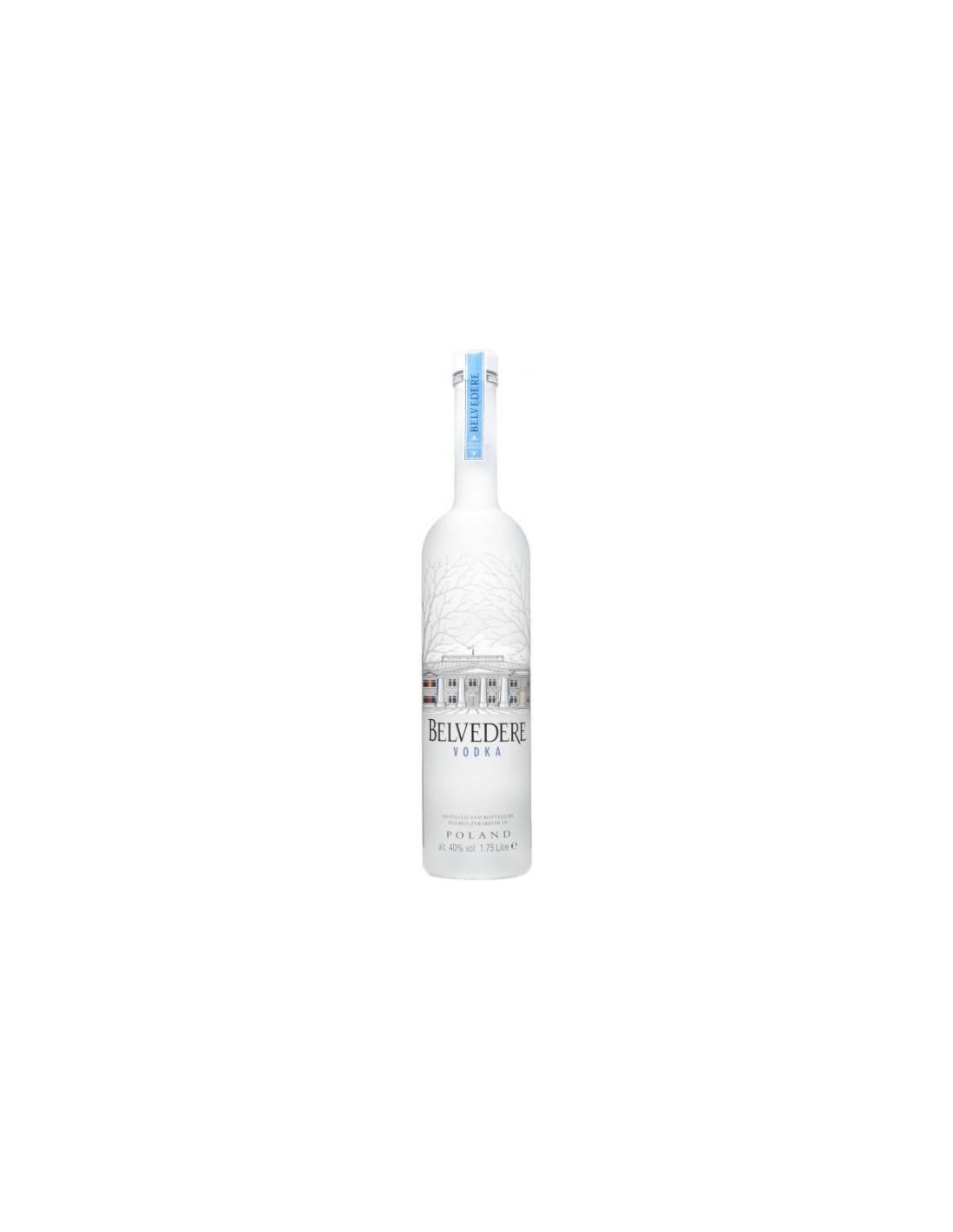 Vodca Belvedere 1.75L, 40% alc., Polonia