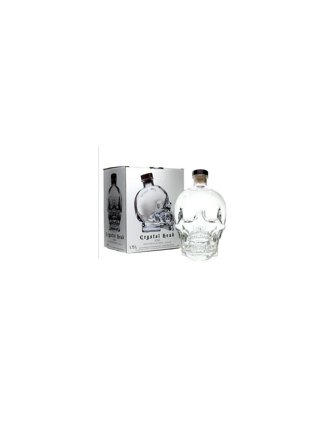 Vodca Crystal Head 1.75L, 40% alc., Canada