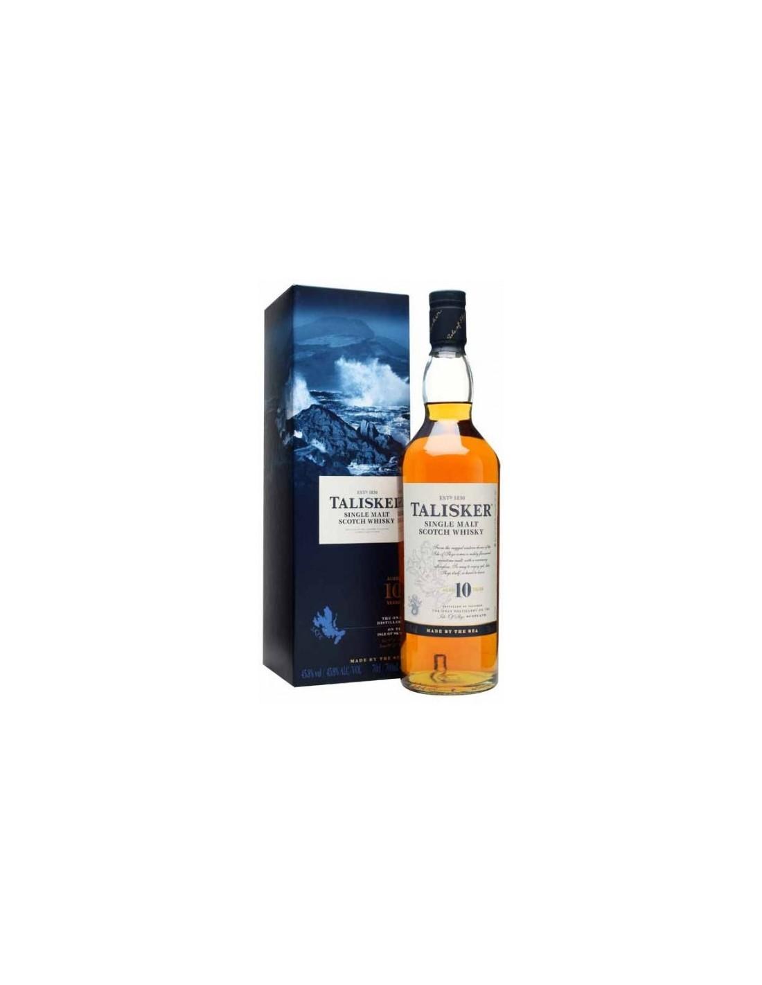 Whisky Talisker, 10 ani, 45.8% alc., 0.7L, Scotia