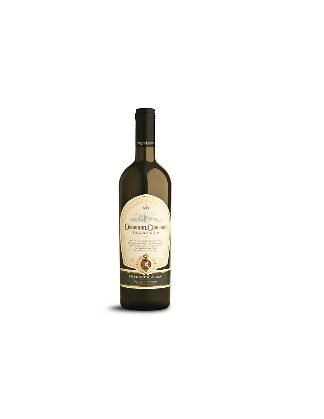 Vin alb sec, Feteasca Alba, Domeniul Coroanei Segarcea, 0.75L, 12% alc., Romania