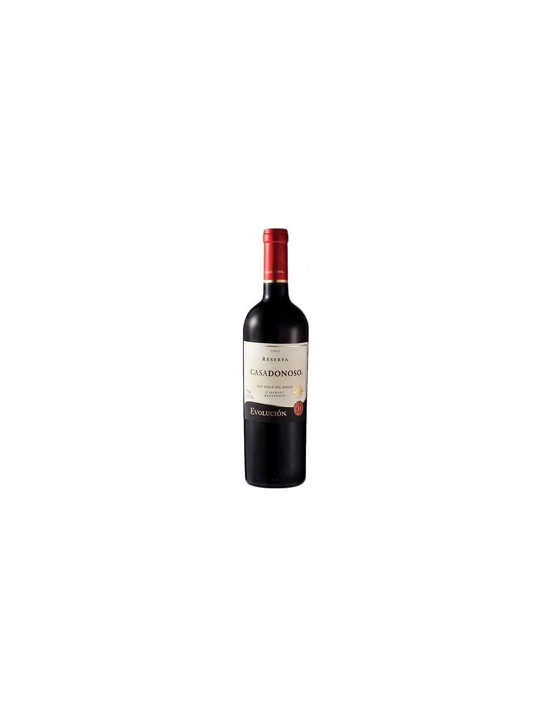 Vin rosu, Cabernet Sauvignon, Casa Donoso Evolucion Reserva Valle del Maule, 0.75L, 13% alc., Chile