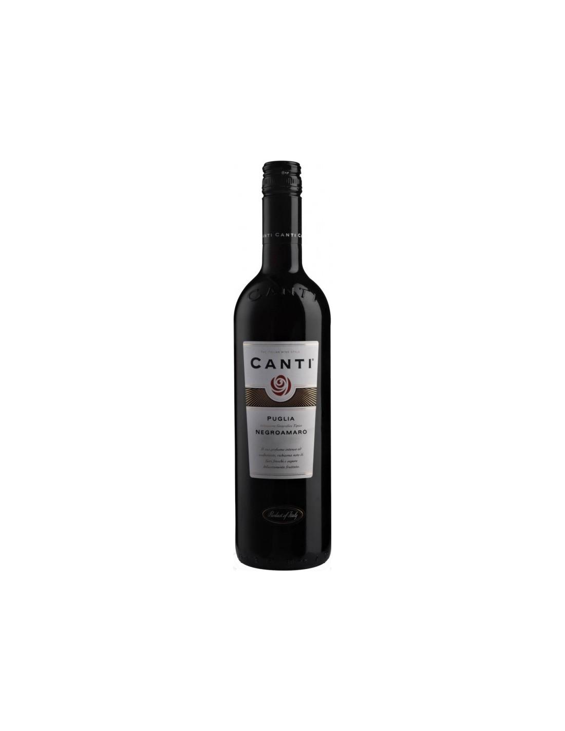 Vin rosu, Negroamaro, Canti Puglia, 0.75L, Italia