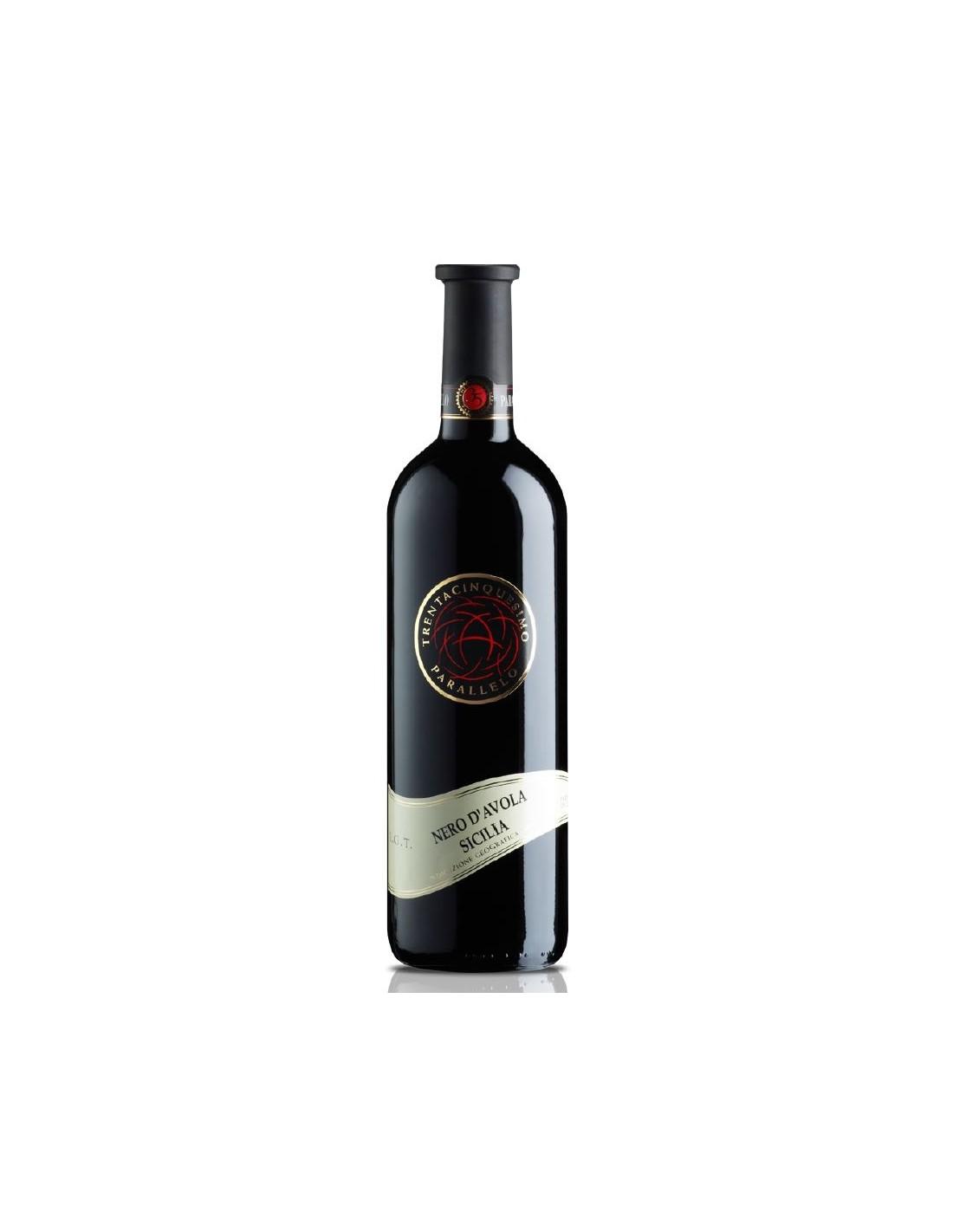 Vin rosu sec, Nero D'avola Sicilia, 0.75L, 13.5% alc., Italia