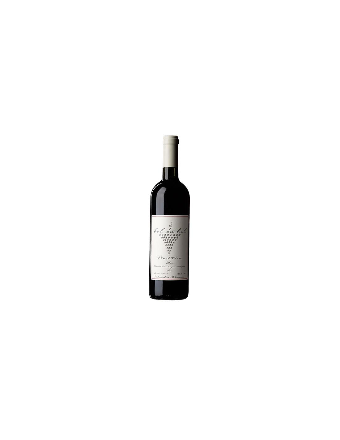 Vin rosu Pinot Noir, Bob cu Bob Adamclisi, 0.75L, Romania