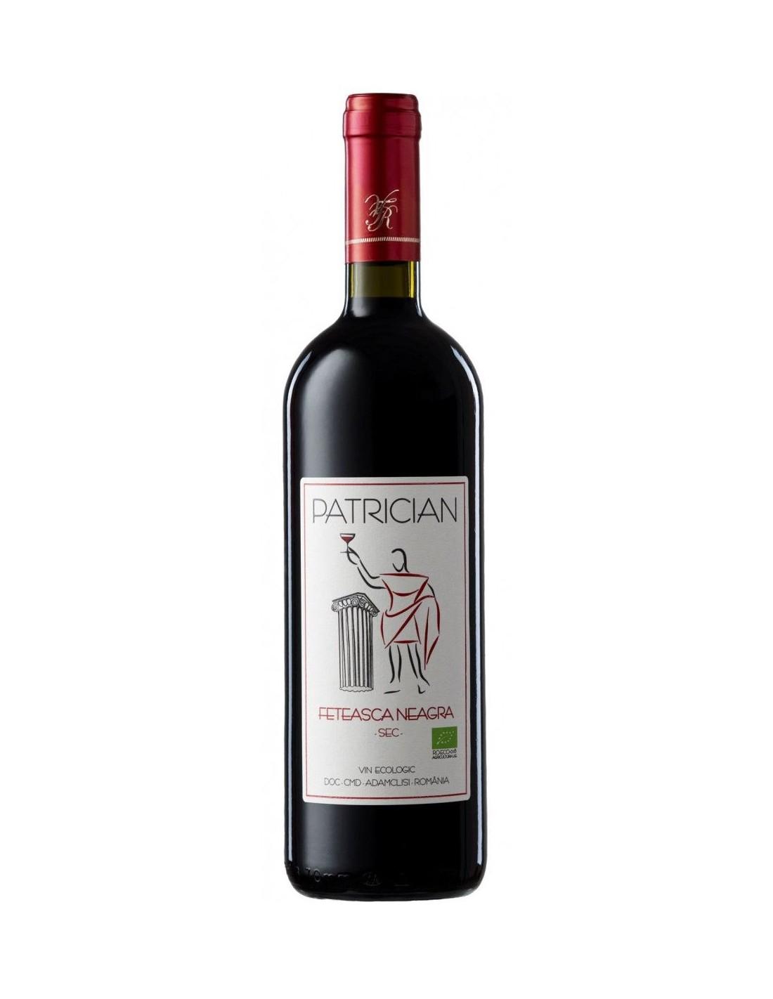 Vin rosu sec, Feteasca Neagra, Patrician Adamclisi, 0.75L, 13% alc., Romania