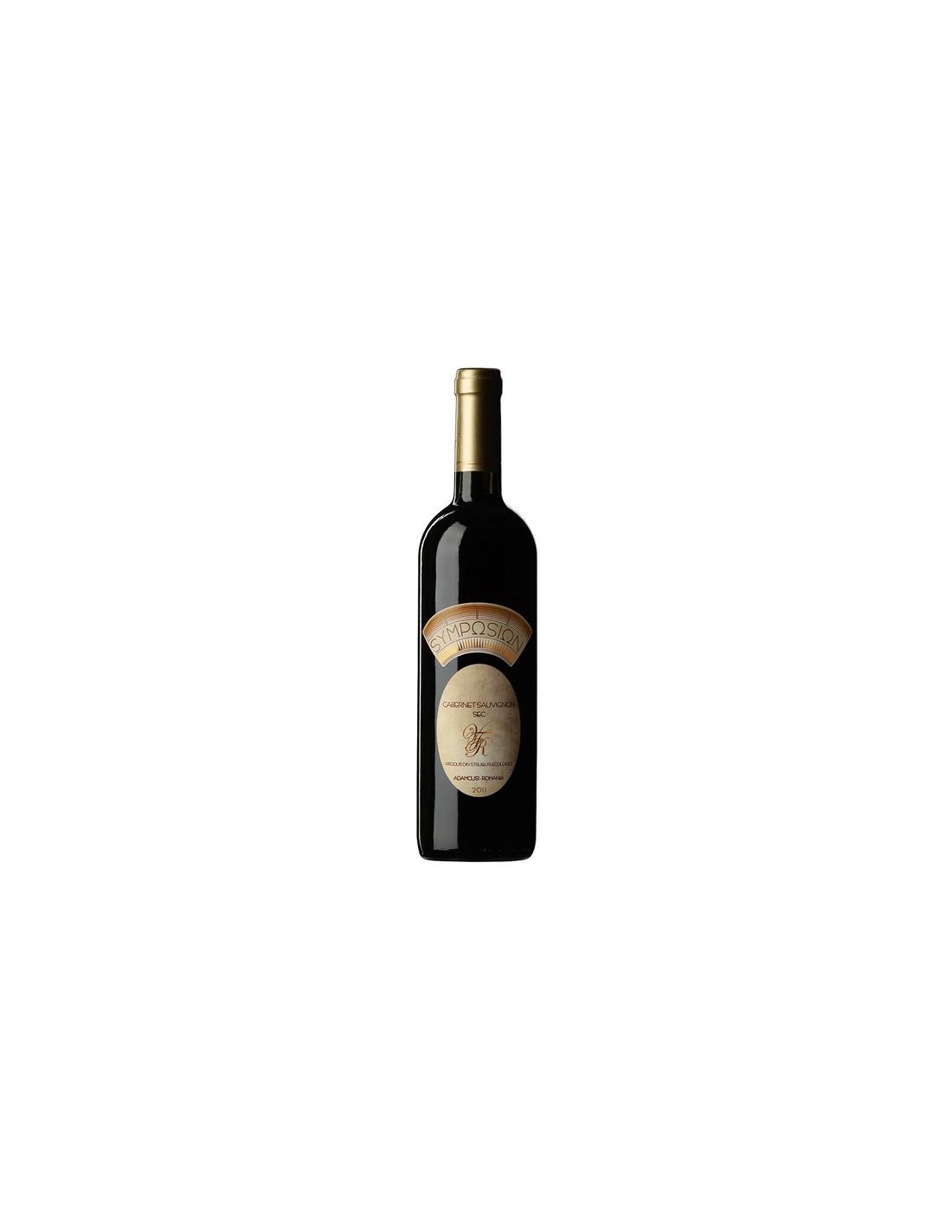 Vin rosu sec, Cabernet Sauvignon, Symposion Adamclisi, 0.75L, 13% alc., Romania