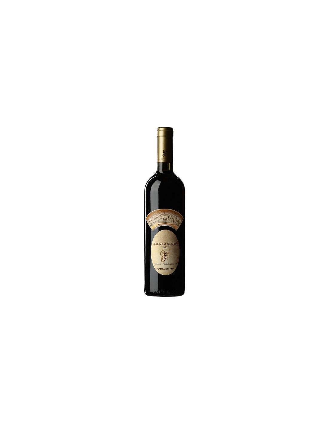 Vin rosu sec, Feteasca Neagra, Symposion Adamclisi, 0.75L, 13% alc., Romania
