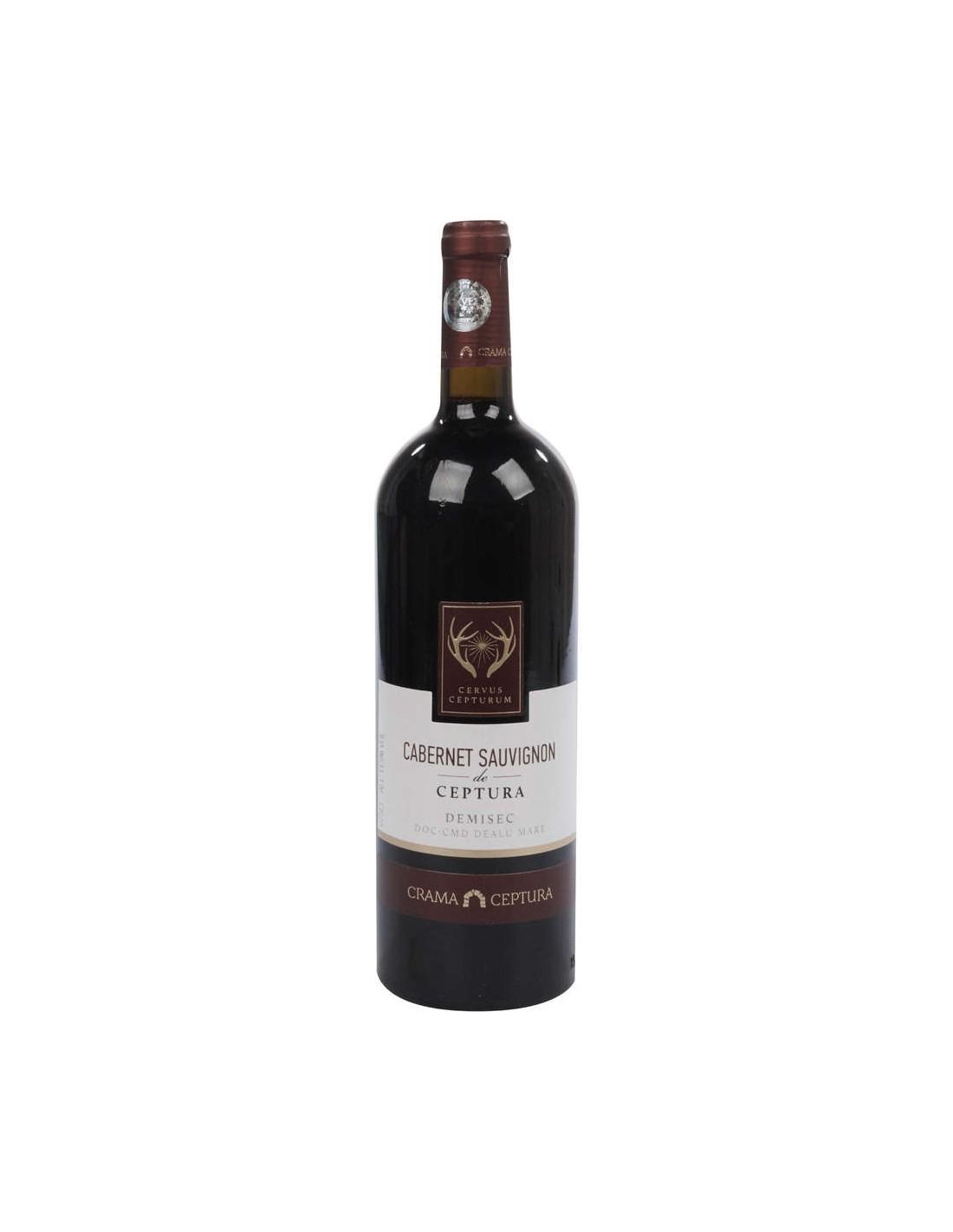 Vin rosu demisec, Cabernet Sauvignon, Cervus Cepturum Dealul Mare, 0.75L, 13.5% alc., Romania