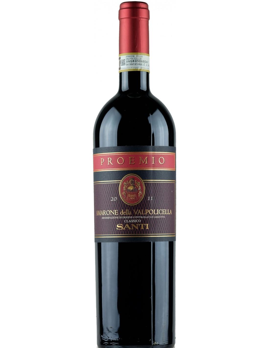 Vin rosu, Cupaj, Santi Proemio Amarone della Valpolicella, 0.75L, 14% alc., Italia