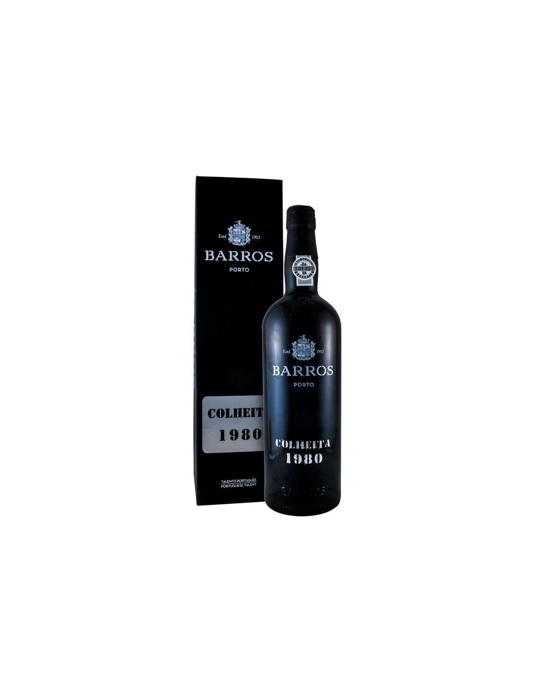 Vin porto rosu, Cupaj, Barros Colheita, 1980, 0.75L, 20% alc., Portugalia