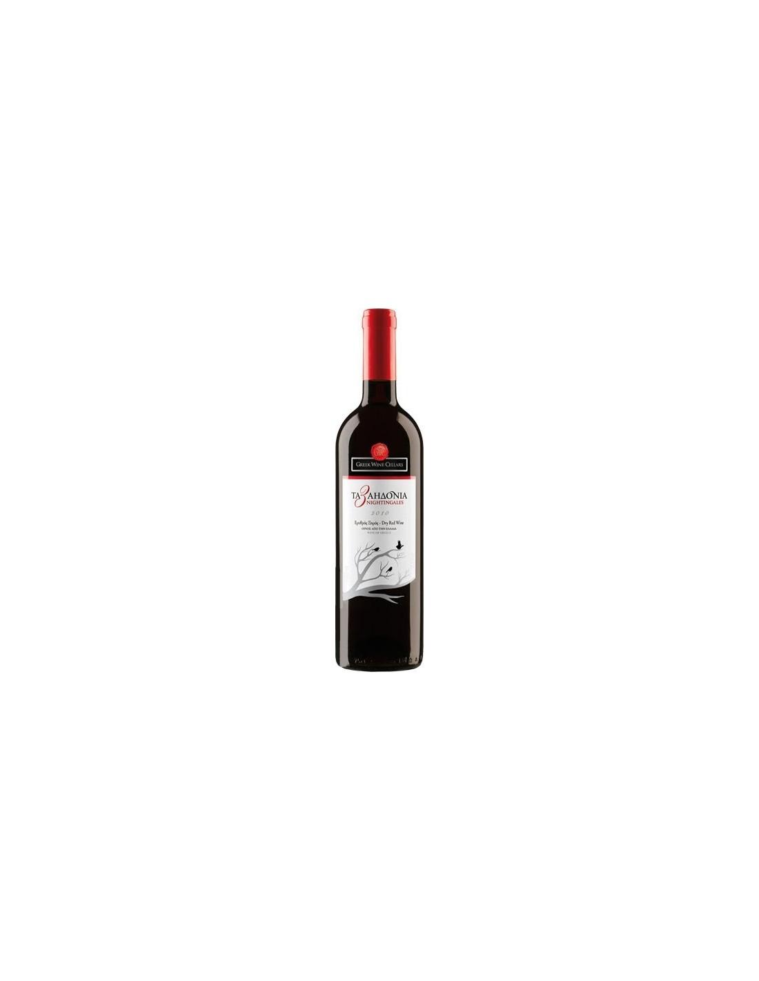 Vin rosu, Cupaj, The 3nightingales Nemea, 0.75L, Grecia