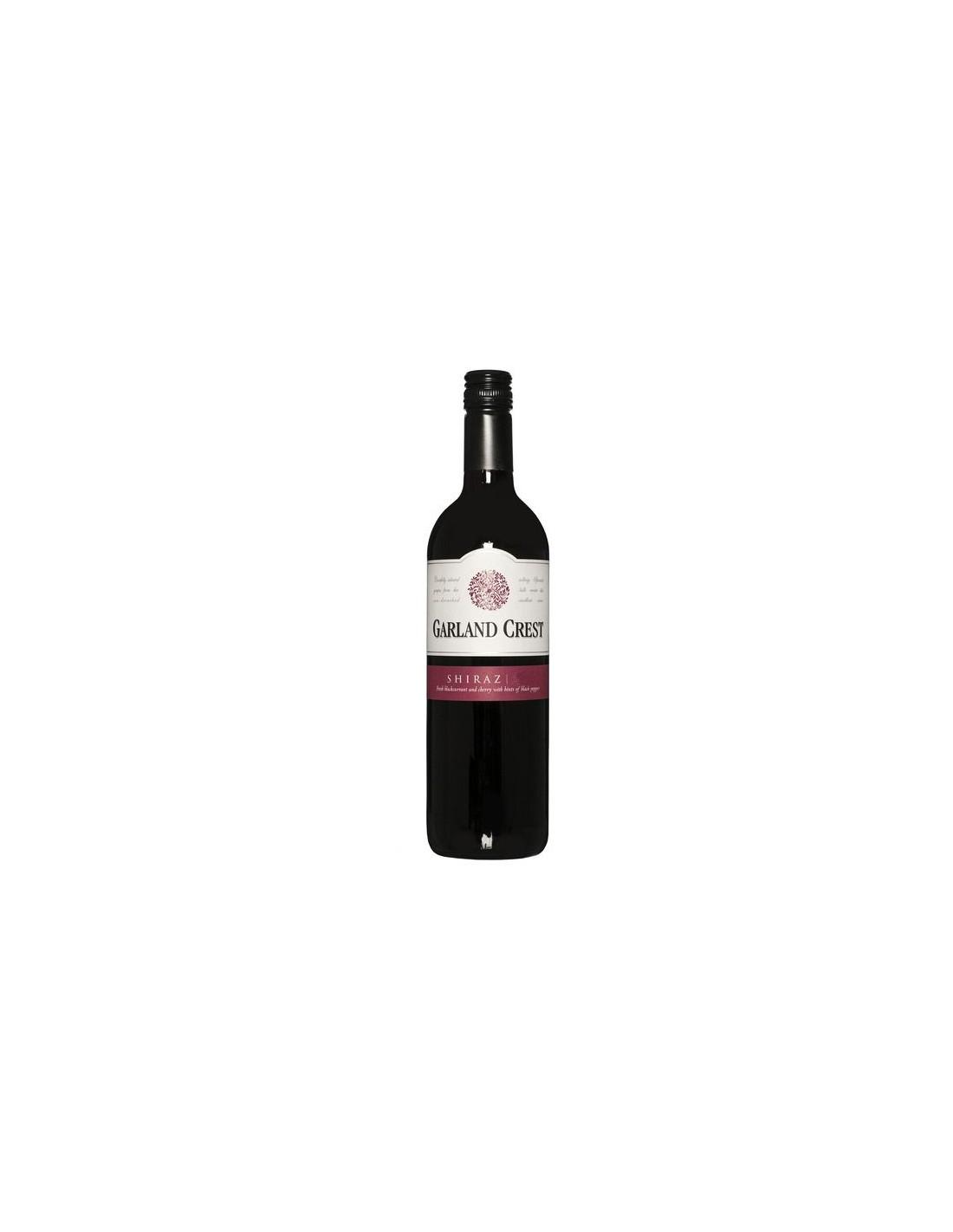 Vin rosu, Shiraz, Garland Crest Jumilla, 0.75L, Spania