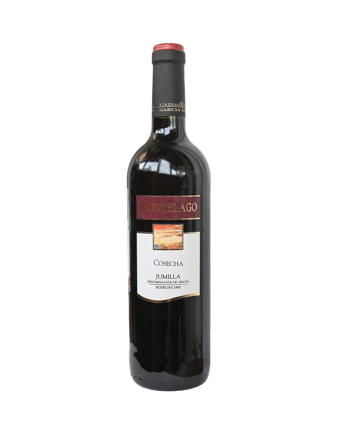 Vin rosu sec, Montelago Cosecha Tinto Jumilla, 1890, 0.75L, 12.5% alc., Spania