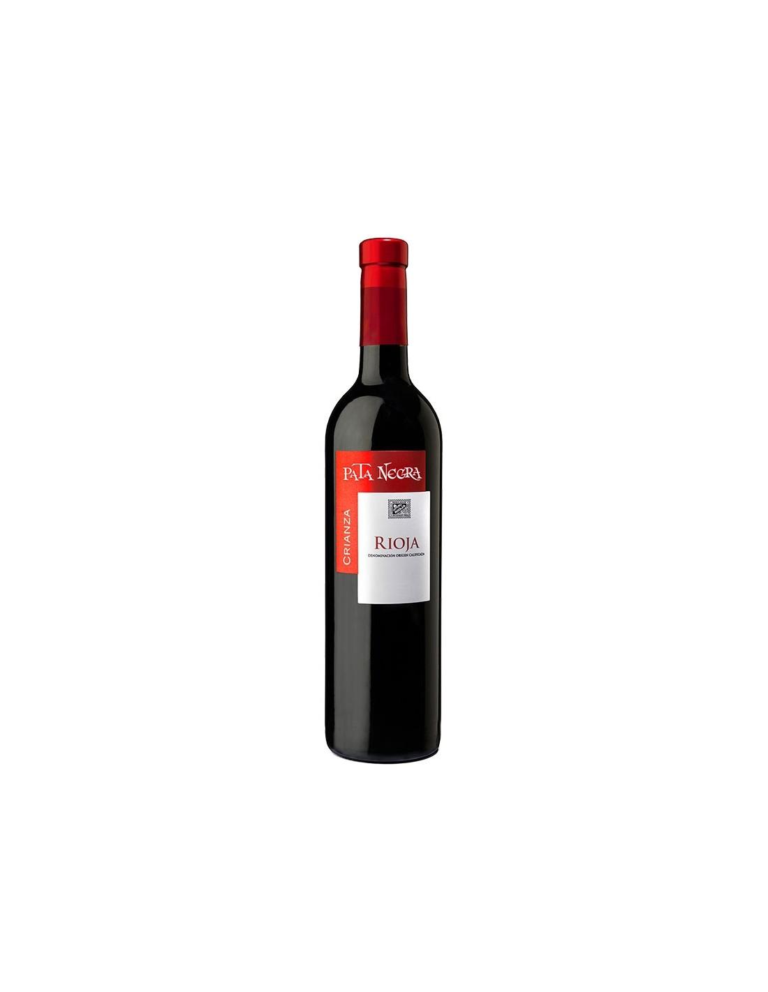 Vin rosu, Tempranillo, Pata Negra Crianza Rioja, 0.75L, Spania