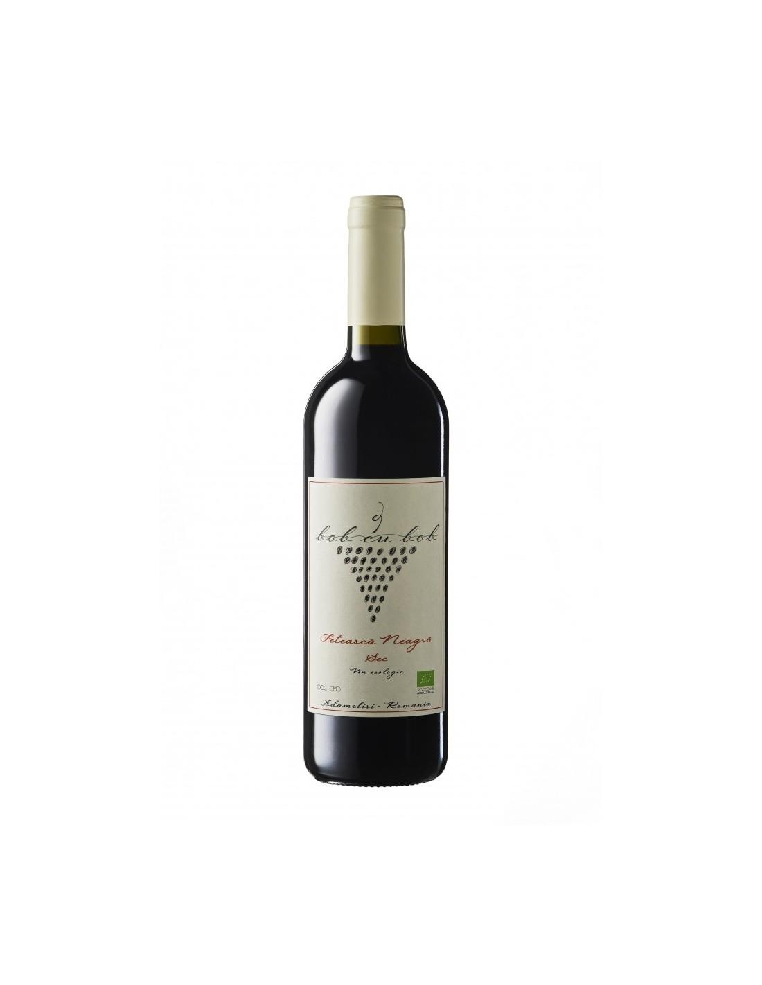Vin rosu sec, Feteasca Neagra, Bob cu bob Adamclisi, 0.75L, 13% alc., Romania