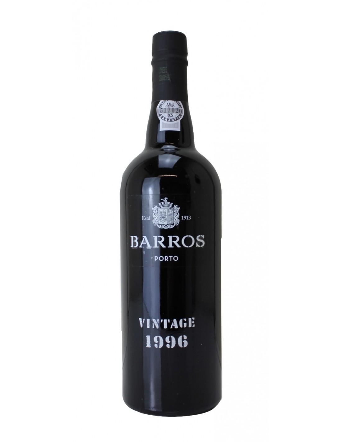 Vin porto rosu, Cupaj, Barros Vintage, 1996, 0.75L, 20% alc., Portugalia