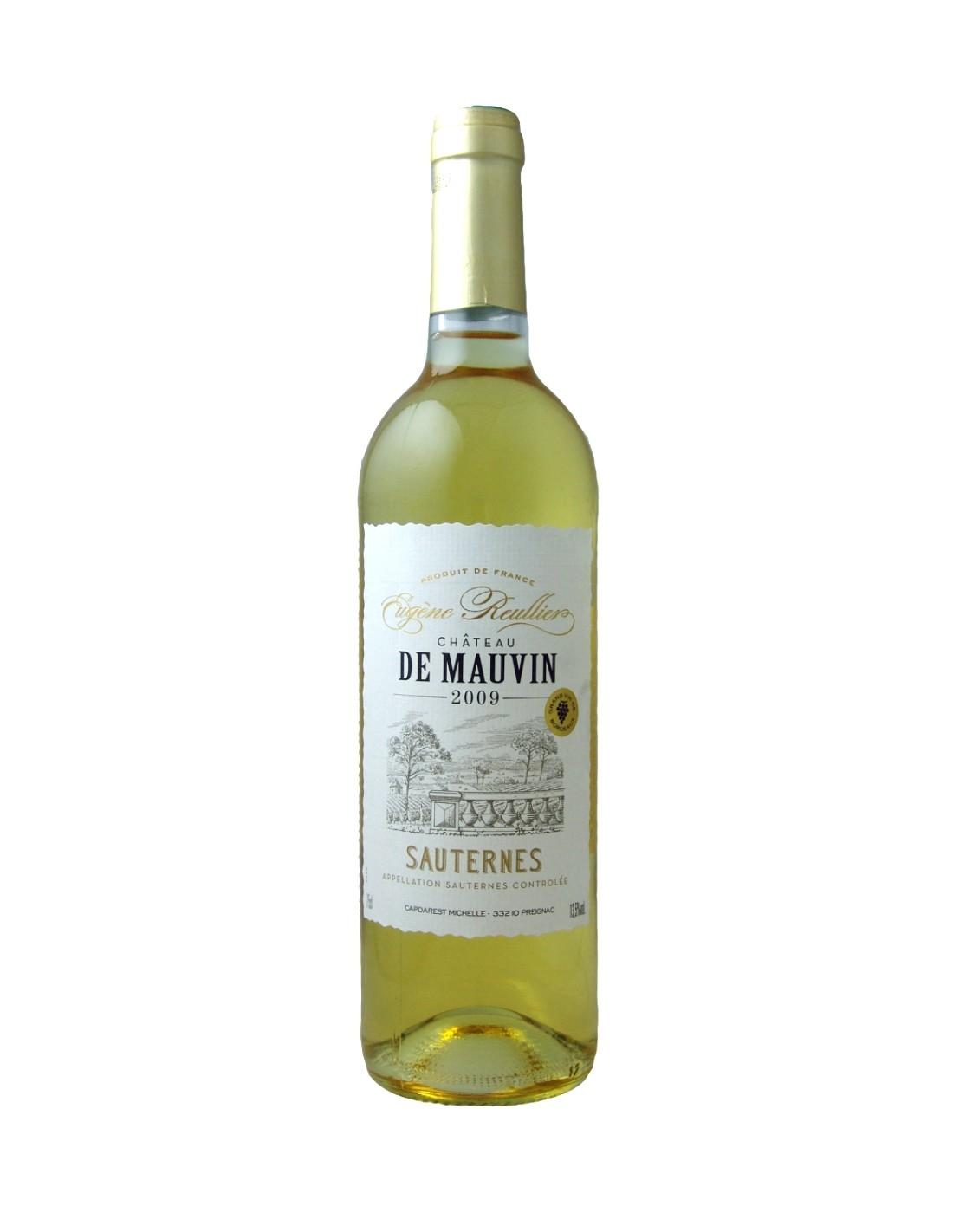 Vin alb dulce, Eugene Reulier Chateau de Mauvin Sauternes, 0.75L, Franta