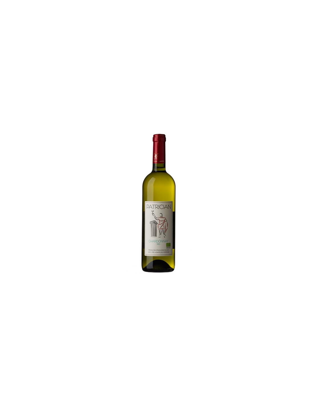 Vin alb sec, Chardonnay, Patrician Dobrudja, 0.75L, 14.5% alc., Romania