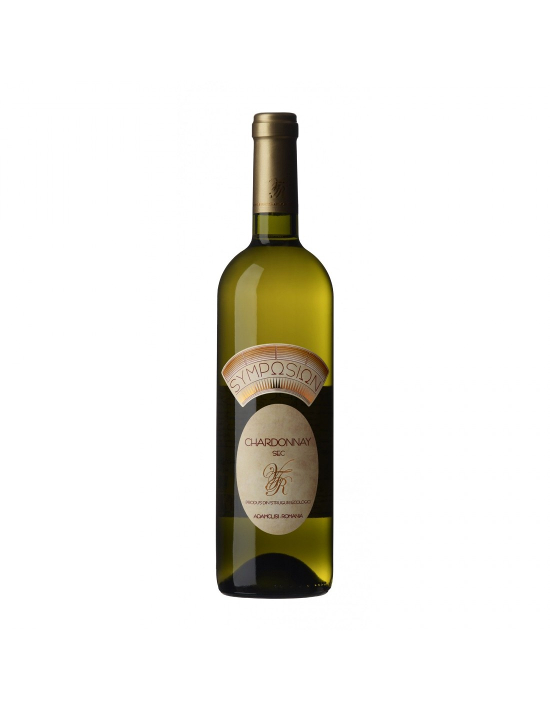 Vin alb sec, Chardonnay, Symposion Adamclisi, 0.75L, 14% alc., Romania
