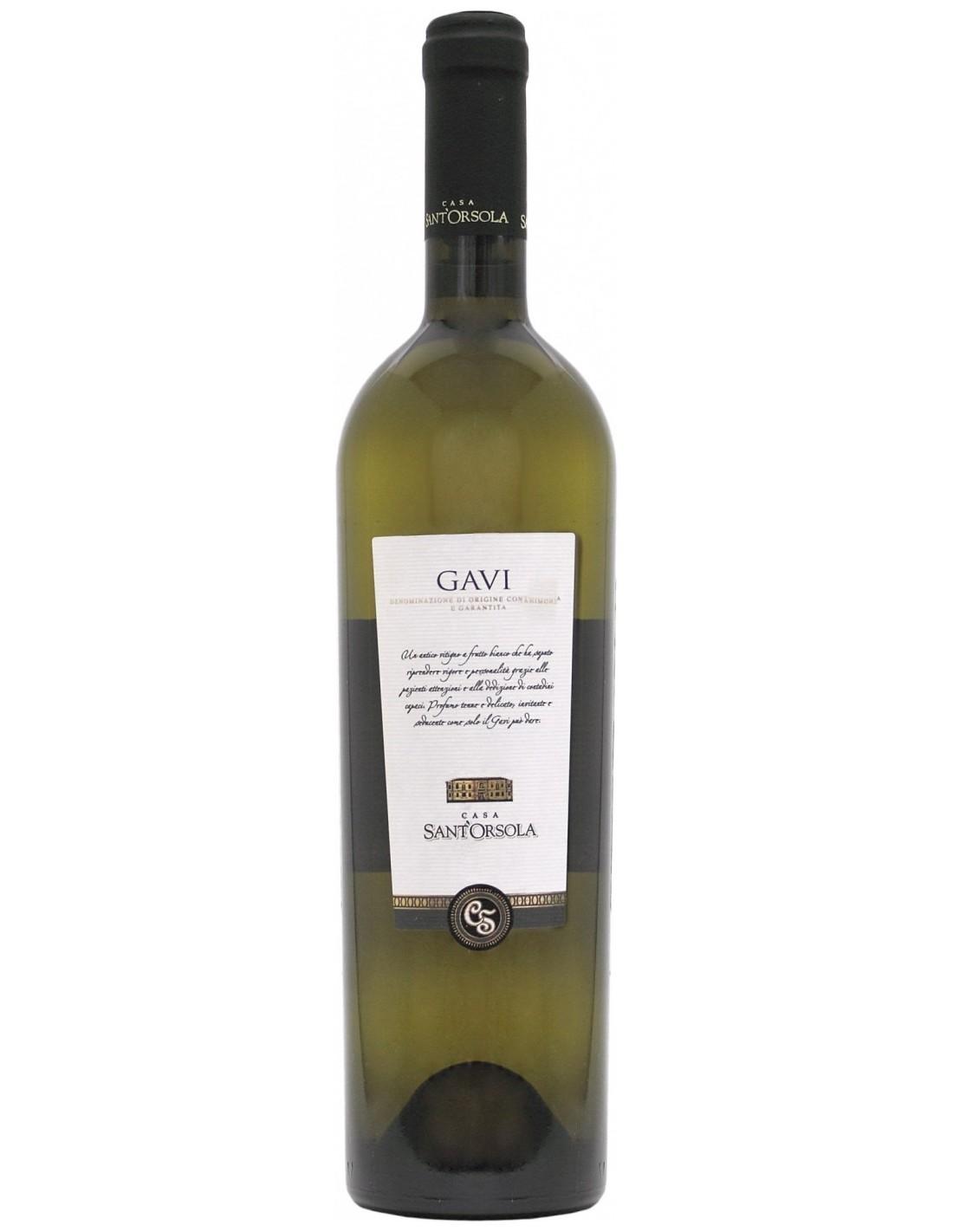 Vin alb, Cortese, Casa Sant'Orsola Gavi., 0.75L, 12% alc., Italia