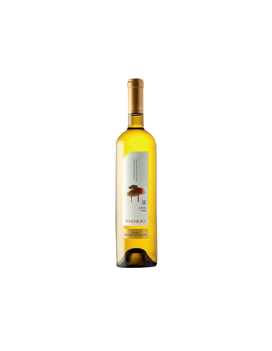 Vin alb sec, Cupaj, Kioski Si Of Vertiskos Thessaloniki, 0.75L, 11.5% alc., Grecia