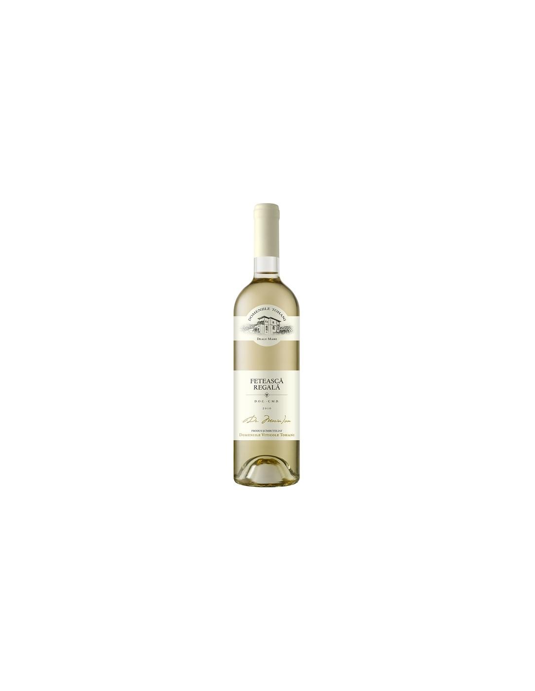 Vin alb demisec, Feteasca Regala, Domeniile Tohani Dealu Mare, 0.75L, 11% alc., Romania