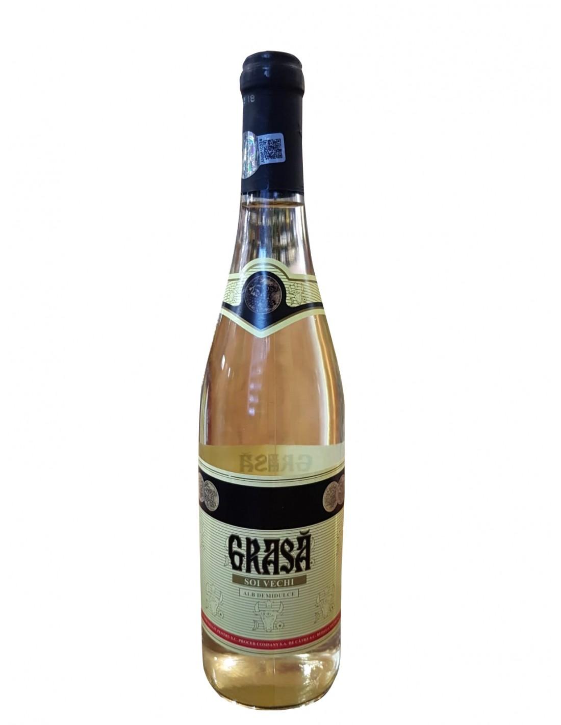Vin alb demidulce, Soi Vechi, Grasa, 0.75L, Romania