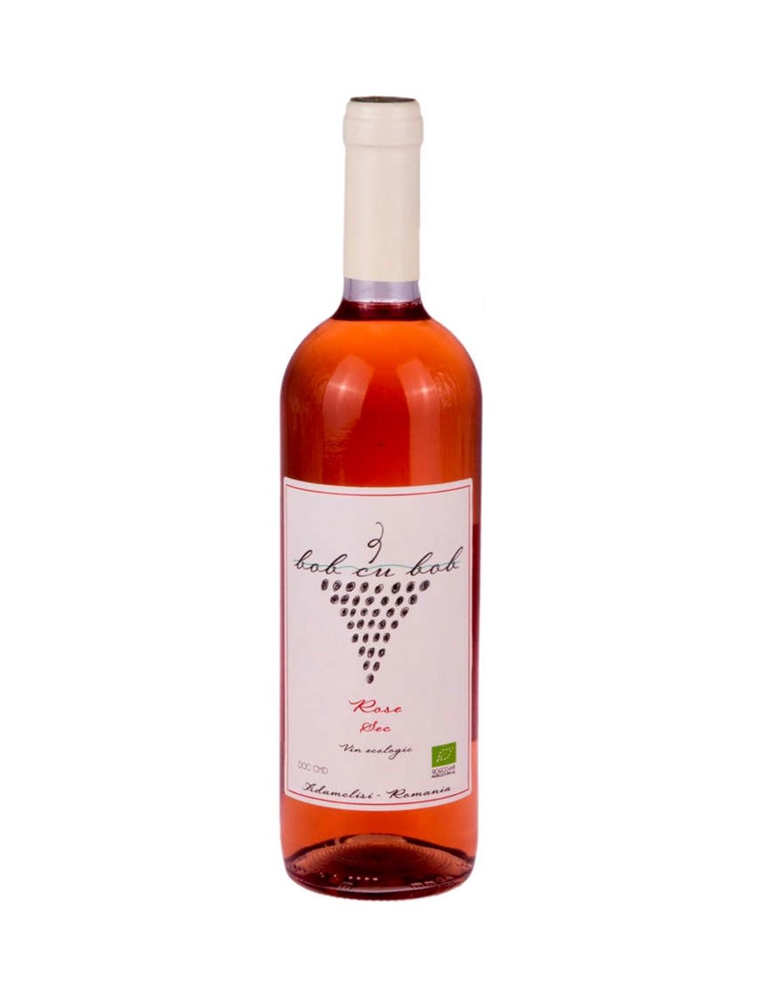 Vin roze sec, Pinot Noir, Bob cu Bob Adamclisi, 0.75L, 13% alc., Romania