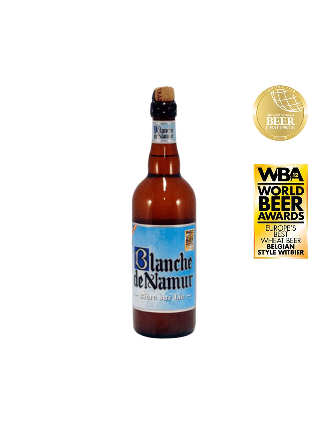 Bere blonda, nefiltrata Blanche De Namur, 4.5% alc., 0.75L, Belgia