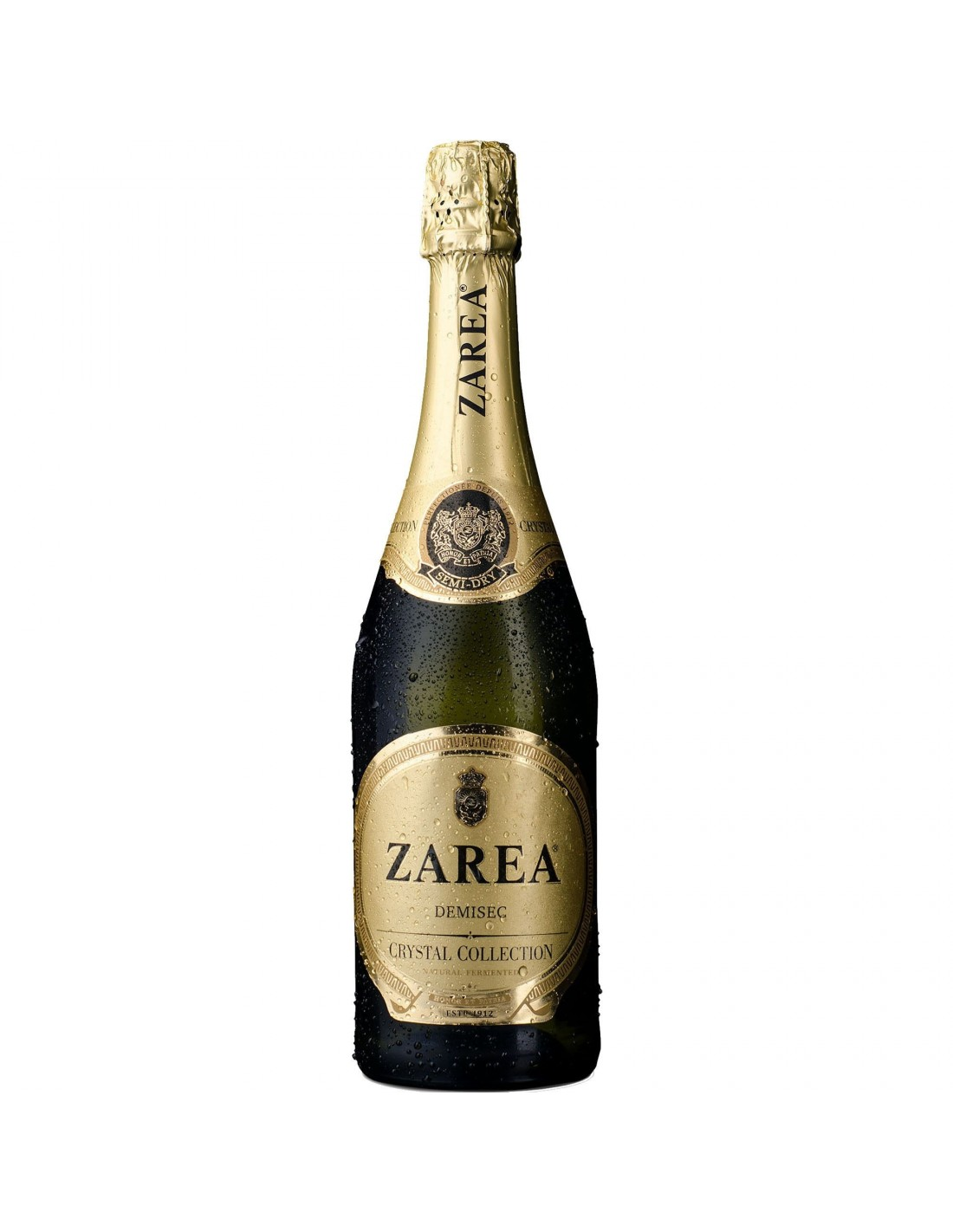 Vin spumant alb demisec, Zarea Crystal Collection, 0.75L, 11% alc., Romania