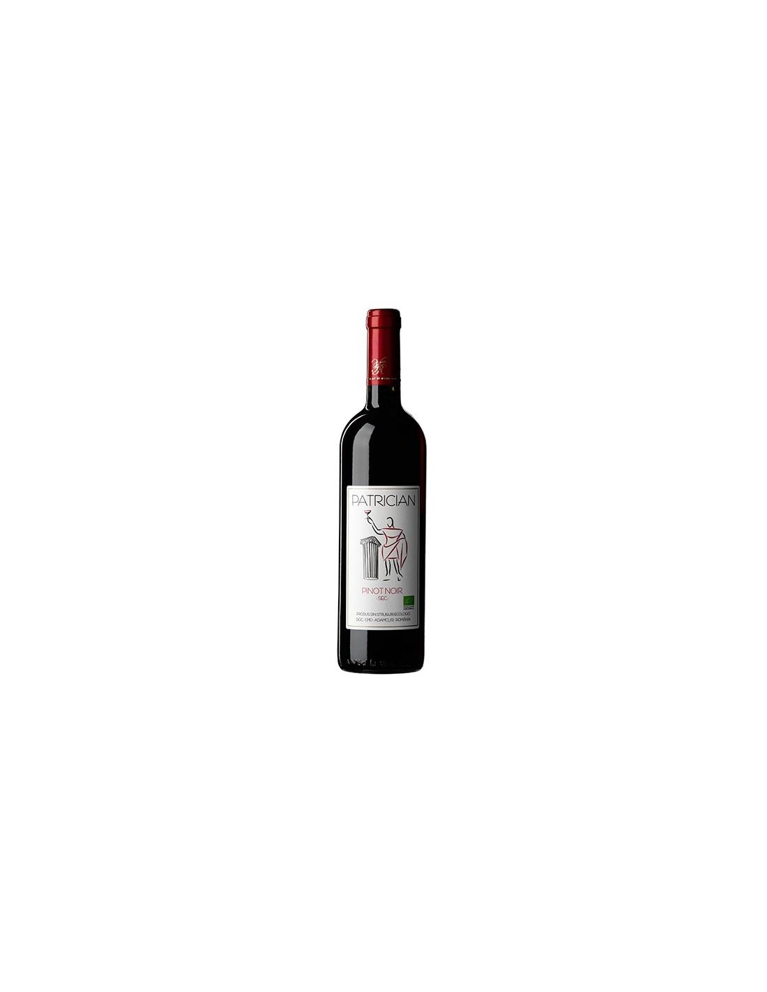 Vin rosu sec, Pinot Noir, Patrician Adamclisi, 0.75L, 13% alc., Romania