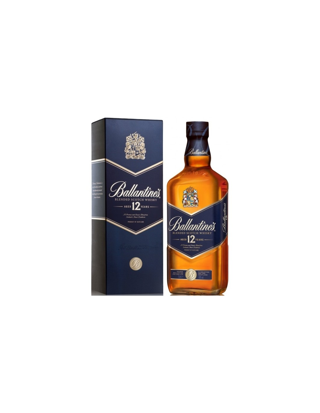 Blended Whisky Ballantine's, 12 ani, 40% alc., 0.7L, Scotia