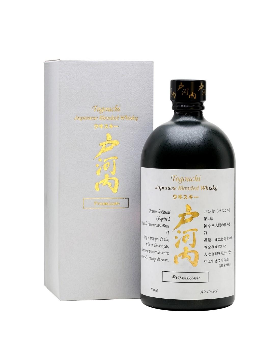 Whisky Togouchi Blended Premium, 40% alc., 0.7L, Japonia