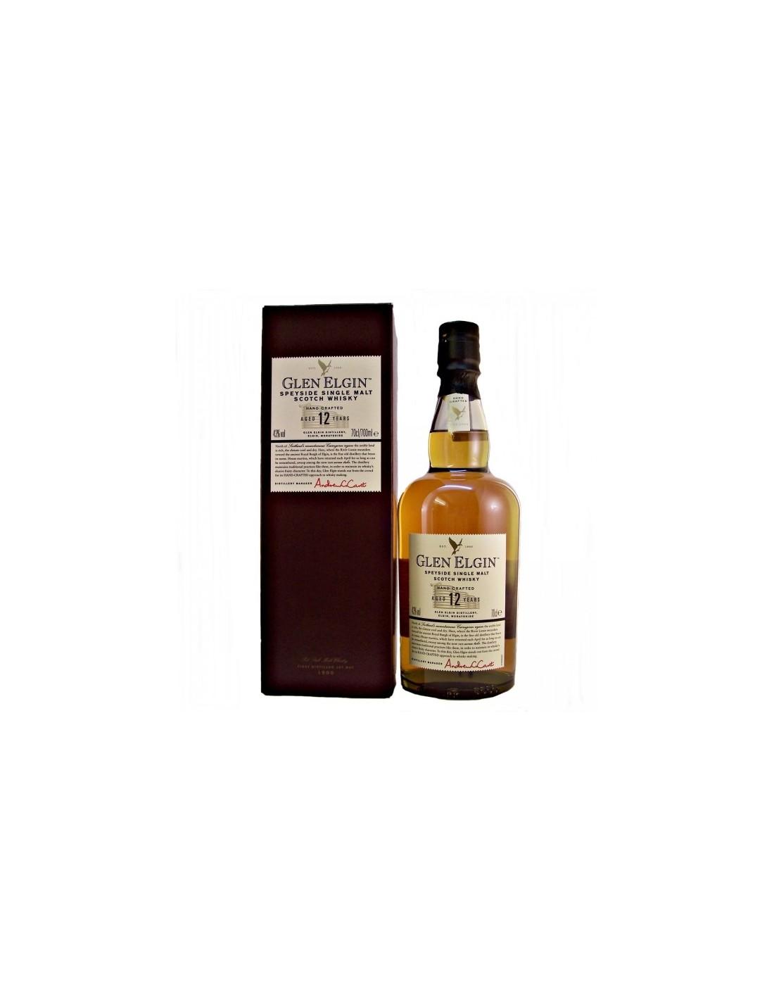 Whisky Glen Elgin, 12 ani, 43% alc., 0.7L, Scotia