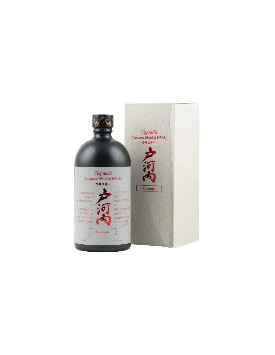 Whisky Togouchi Blended Kiwami, 40% alc., 0.7L, Japonia