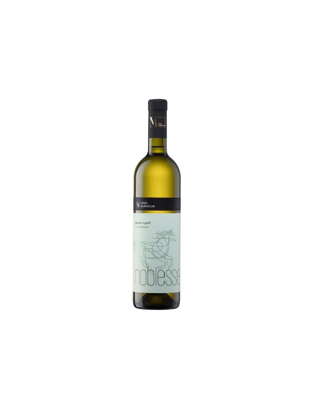 Vin alb sec, Feteasca Regala, Noblesse Murfatlar, 0.75L, 13.5% alc., Romania